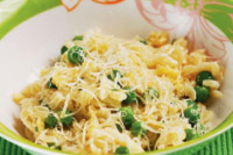 Блюдо на завтрак для ребенка: Рисини с горошком
