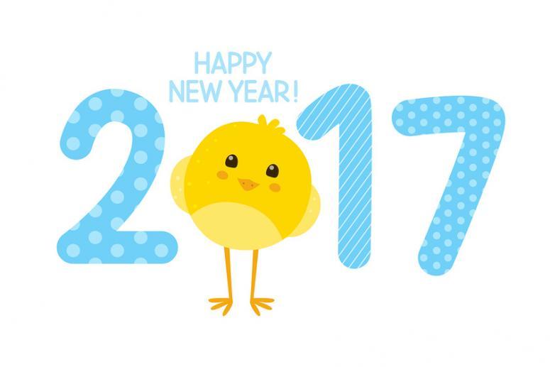Красивые поздравительные картинки и открытки с Новым Годом 2017 - годом Петуха