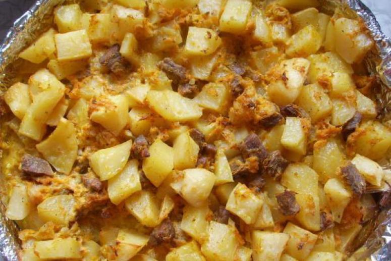 Картофель с телятиной
