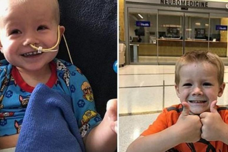 Ребенок победил один из редчайших видов рака мозга