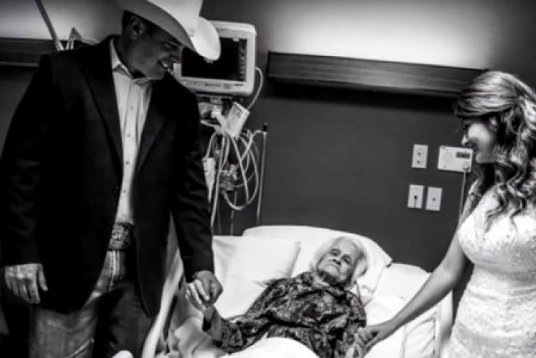 Молодожёны сыграли свадьбу в больнице ради умирающей бабушки