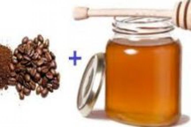 Скраб из молотого кофе с пчелиным медом
